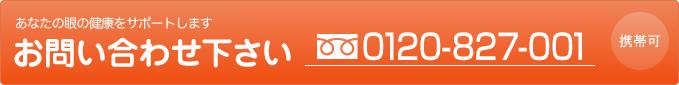 あなたの眼の健康をサポートします お気軽にお問い合わせ下さい 0120-827-001