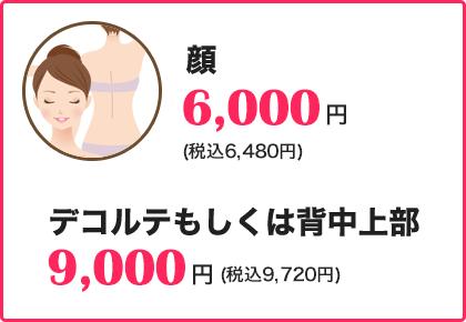 顔6000円
