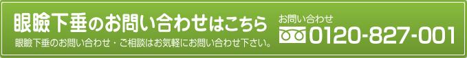 あなたの眼の健康サポート まずは資料請求 0120-827-001